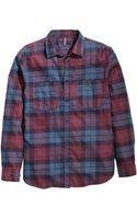 H&M Checked Flannel Shirt - Lyst