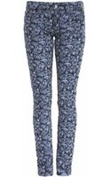 Isabel Marant Floral Embroidered Jeans - Lyst