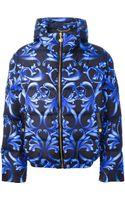 Versace Jacquard Bomber Jacket - Lyst