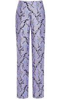 Mary Katrantzou Dehavala Trousers in Foliage Lavender - Lyst