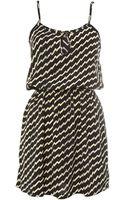 Cutie Zig Zag Print Dress - Lyst