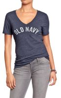 Old Navy Logo V-neck Tees - Lyst