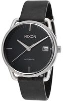 Nixon Womens Mellor Automatic Black Genuine Leather and Dial - Lyst