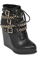 BCBGeneration Larissa Platform Wedge Booties - Lyst