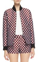 RED Valentino Jacquard Heartprint Bomber Jacket - Lyst
