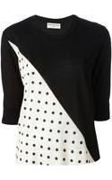 Balenciaga Polka Dot Panel Sweater - Lyst