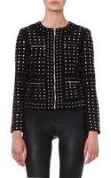MICHAEL Michael Kors Studded Zip Front Jacket - Lyst