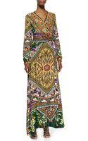 Camilla Jersey Mandala Print Maxi Wrap Dress - Lyst