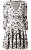 Alexander McQueen Floral Dress - Lyst