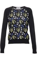 Erdem Carmen Sweater with Lace Front - Lyst