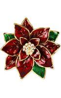Jones New York Goldtone Poinsettia Pin - Lyst