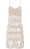 Marc By Marc Jacobs Exeter Printed Silk Crepe De Chine Dress - Lyst