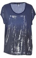 Armani Jeans Gradient Sequin Sleeveless T-Shirt - Lyst