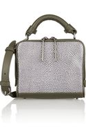 3.1 Phillip Lim Ryder Lizard-effect Leather and Smooth-leather Shoulder Bag - Lyst