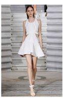 Jay Ahr Studded Techno Meshviscose Jersey Dress - Lyst