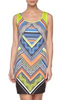 Laundry By Shelli Segal Printed Tank Dress - Lyst
