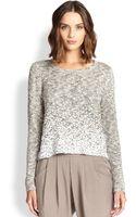 Eileen Fisher Knit Sequin-trim Sweater - Lyst