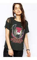Ralph Lauren Denim and Supply By Ralph Lauren Tshirt with Lace Panels - Lyst