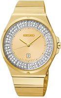Seiko Womens Goldtone Stainless Steel Bracelet Watch 36mm Sxdf72 - Lyst