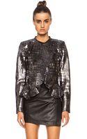 Isabel Marant Rami Shiny Leather Jacket - Lyst