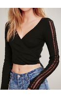 Free People Nevermind Wrap Top - Lyst