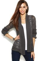 Inc International Concepts Long Sleeve Pointelle Cardigan - Lyst