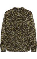 Etoile Isabel Marant Charley Leopard-print Chiffon Blouse - Lyst