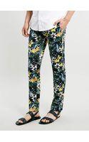 Topman Tropical Print Ultra Skinny Trousers - Lyst