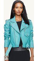 Ralph Lauren Black Label Leather Kaylin Jacket - Lyst