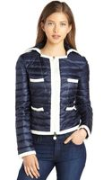 Moncler Navy Quilted Nylon Bussiere Down Jacket - Lyst