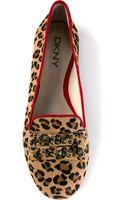 DKNY Leopard Print Slipper - Lyst