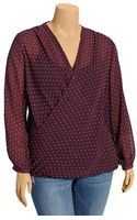 Old Navy Plus Wrap Style Chiffon Top - Lyst
