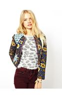 Asos Jacket in Mixed Floral Print with Metalic Tape Detail - Lyst
