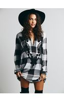 Free People Embroidered Check Tunic - Lyst