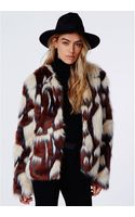 Missguided Amber Mixed Fur Jacket - Lyst