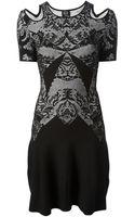 McQ by Alexander McQueen Optical Knit Dress - Lyst