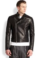 DSquared2 Quilted Leather Motorcycle Jacket - Lyst