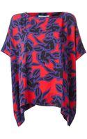 Diane von Furstenberg New Hanky Printed Top - Lyst