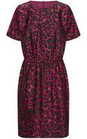 St. John Leopard Print Silk Dress - Lyst