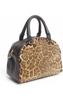 Christian Louboutin Leopard Studded Calf Hair Top Handle Convertible Bag - Lyst