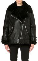 Acne Studios Oversized Leather Jacket - Lyst
