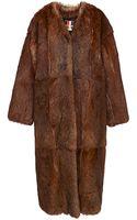 MSGM Rabbit Fur Coat - Lyst