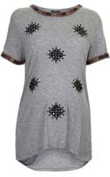 Topshop Maternity Folk Mirror Embroidered Tee - Lyst
