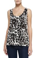 Diane Von Furstenberg Jackie Cheetahprint Sleeveless Top - Lyst