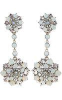 Oscar de la Renta Crystal Drop Clip-on Earrings - Lyst