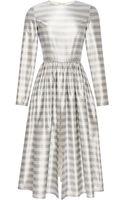 Katie Ermilio Washed Striped Silk Open Front Dress - Lyst