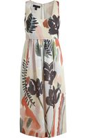 Burberry Prorsum Floral Print Silk Dress - Lyst