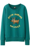 Uniqlo Women Sprz Ny Long Sleeve Sweat Pullover Keith Haring - Lyst