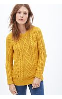 Forever 21 Cable Knit Fisherman Sweater - Lyst