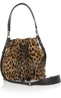 Elizabeth And James Cynnie Mini Animalprint Calf Hair Shoulder Bag - Lyst